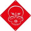"Sticker repositionnable ""Free Your Mind"" par Timmy Willy - Univers de décoration Black Poetry - Colori Rouge"