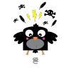 Sticker pour chambre d'enfant Corbeau Trop Mignon