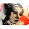 """Impression HD sur vinyle repositionnable Haut de Gamme - Détail du motif """"OMG"""", une création exclusive de l'artiste Alexandre Akar,"""