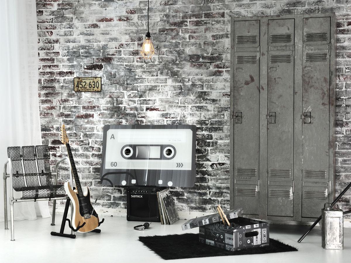 Boite carton pour un rangement rock et vintage de votre maison