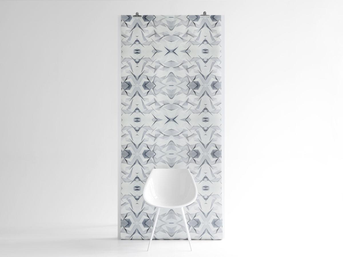 Papier Peint Origami Rocks Version Blanche