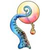 """Sticker souple repositionnable """"Marine et Flamme"""" par Melle Sue • Décoration alternative steampunk • Ondes Fantastiques - Colori Bleu"""